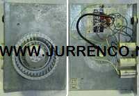 JE StorkAir ventilator motorplaat met waaier