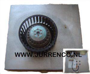 Unifan ventilator motorplaat met waaier